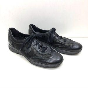Mephisto Runoff black leather sneakers